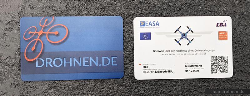 Drohnenführerschein Karte Scheckkarte Kompetenznachweis