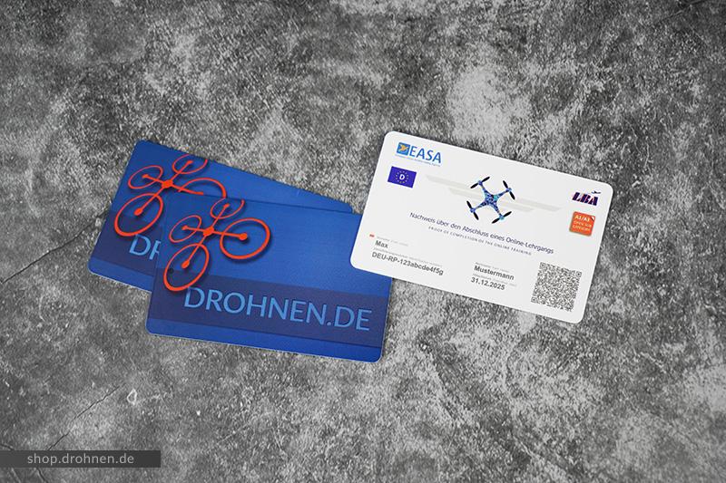 EU Drohnenführerschein EC Karte Visitenkarte