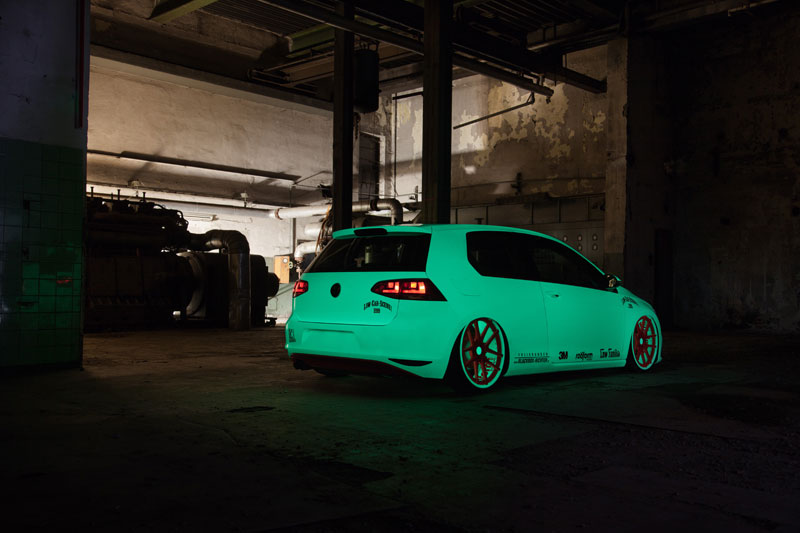 Vw Golf Light Tron Von Low Car Scene Blackbox Richter
