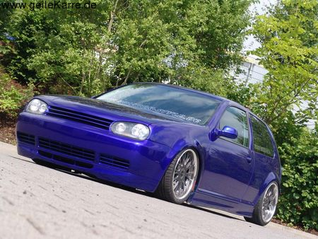 vw golf iv gti mit has luftfahrwerk von evox blue tuning. Black Bedroom Furniture Sets. Home Design Ideas